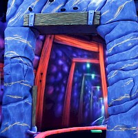 Lost in the blacklight mine GlowGolf Aalsmeer